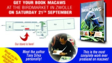 Get your signed copy of Macaws at Zwolle (Netherlands) birdmarket