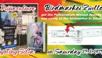 Get the Psittaculture Manual at the Zwolle (Netherlands) Birdmarket